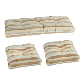 Brown Stripe Indoor/Outdoor Seat Pad Set, 3-Piece view 1