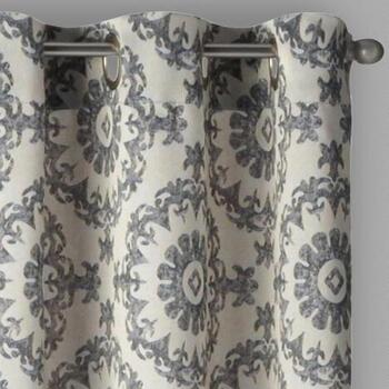 Eclipse by Sundown® Kin Medallion Window Curtains, Set of 2