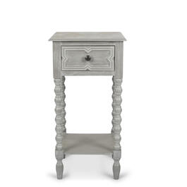 Petal and Stone™ 1 Drawer Gray Accent Table view 1