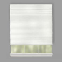 "72"" White Pleated Cordless Window Shade"