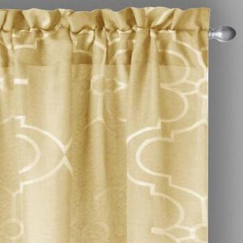 "84"" Gate Embroidered Window Curtains, Set of 2"