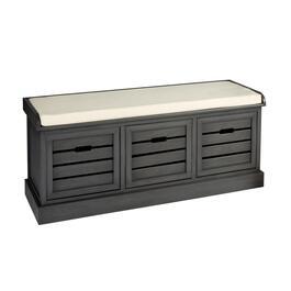 Alden Gunmetal 3 Bin Shutter Storage Bench