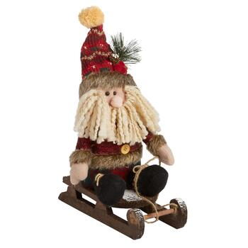 "11.5"" Plush Sleigh Riding Santa"