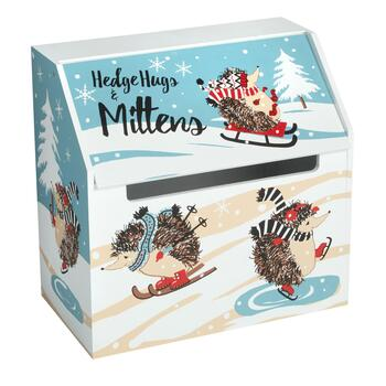 """Hedgehogs & Mittens"" Winter Storage Box"