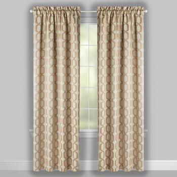 "84"" Woven Links Blackout Window Curtains, Set of 2 view 2"