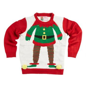 Elf Suit Light-Up Ugly Christmas Sweater