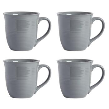 Bistro Brights Gray Mugs, Set of 4