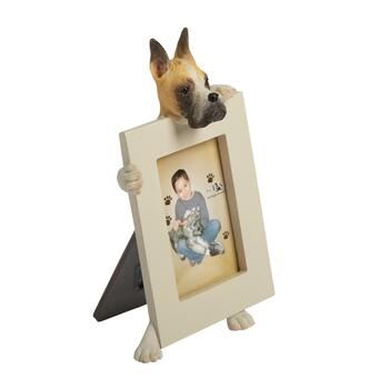 "2.5""x3.5"" Beige/Black Face Dog Frame"