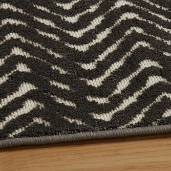 5'x7' Brown Zigzag Reflective Area Rug view 2