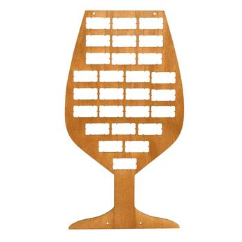 Wine Glass Shaped Wooden Cork Holder