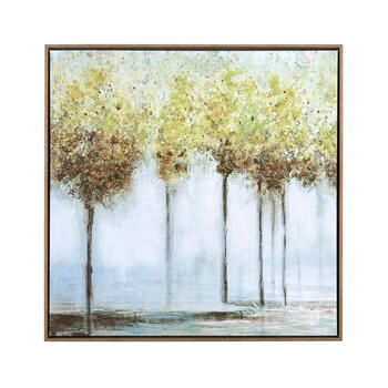 "28"" Trees Hand-Painted Framed Wall Decor view 1"