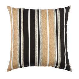 Beige/Black Stripe Indoor/Outdoor Square Throw Pillow view 1
