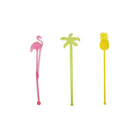 Luau Party Themed Stirrers view 1