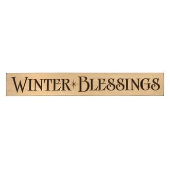 "36"" ""Winter Blessings"" Wood Wall Sign"