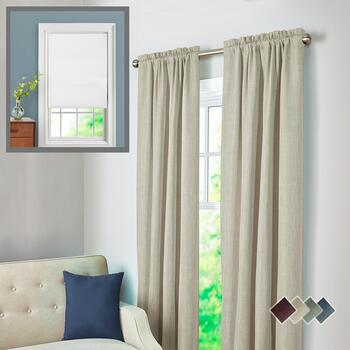 Solid Thermal Shield Window Panels & Cordless Shades
