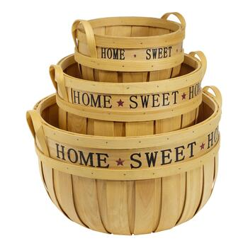 Bushel Basket with Home Stencil