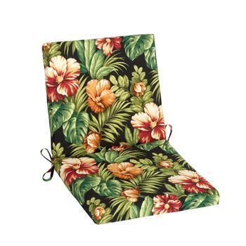 Tropical Flowers Indoor/Outdoor Mid-Back Chair Pad