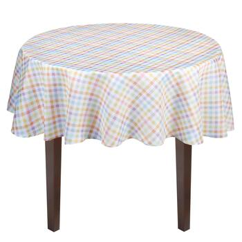 Pastel Gingham Tablecloth view 2