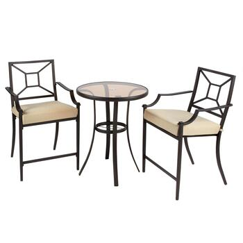 Alba Bistro Table and Chairs Set, 3-Piece