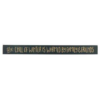 "36"" ""The Chill of Winter"" Wood Wall Sign"