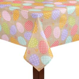 Pastel Patterned Eggs Print Tablecloth