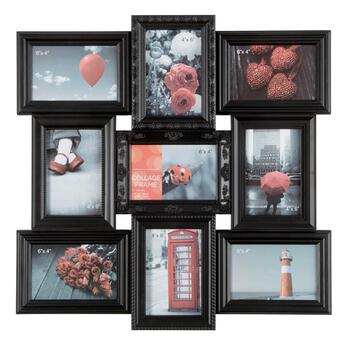 9-Opening Ornate Frames Hanging Photo Collage