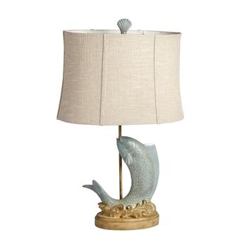 "32.25"" Jumping Fish Table Lamp"