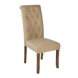 Solid Tufted Upholstered Parsons Chair view 1