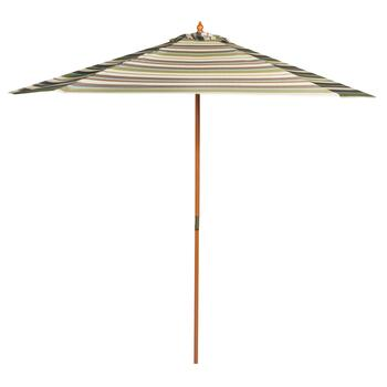 9' Kiwi Striped Double-Pulley Market Umbrella