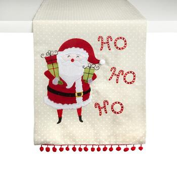 """Ho Ho Ho"" Santa Pom Pom Table Runner"