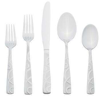 Cambridge® Conquest Geo Stainless Steel Flatware Set, 20-Piece