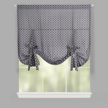 Traditions by Waverly® Gray Moroccan Tie-Up Window Shade