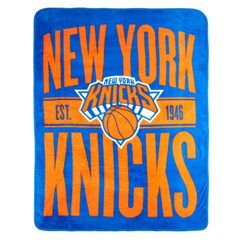 NBA New York Knicks Plush Throw Blanket