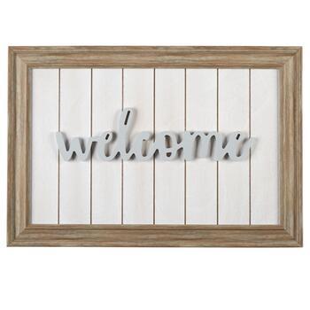 "25""x17"" ""Welcome"" Lifted Type Wood Wall Decor"