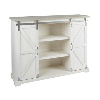 The Grainhouse™ White Sliding Door Cabinet view 1