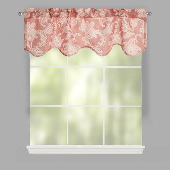 Coral Ellie Window Valances, Set of 2