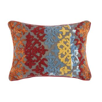 Red/Blue/Yellow Tile Oblong Throw Pillow