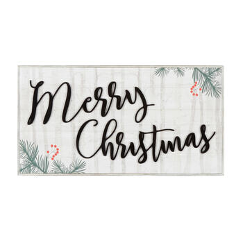 "15""x29"" ""Merry Christmas"" Wood Frame Wall Decor view 1"
