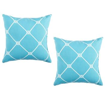 Trellis Indoor/Outdoor Square Throw Pillows, Set of 2