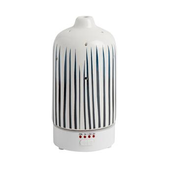 Blue Striped Essential Oil Diffuser with LEDs