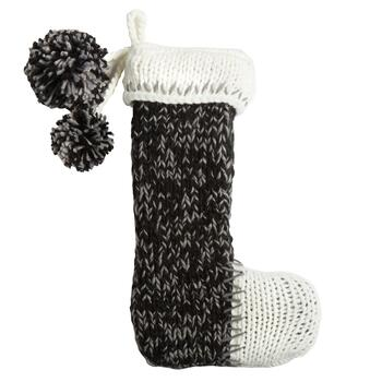 "19"" Hand Knit Christmas Stocking"