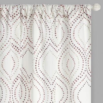 Mindi Dotted Ogee Window Curtains, Set of 2 view 1