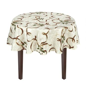 Famous Maker Damask Print Tablecloth view 2