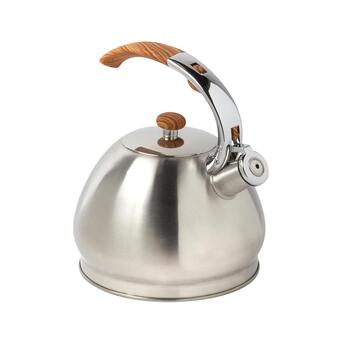 3-Qt. Faux Wood Handle Tea Kettle