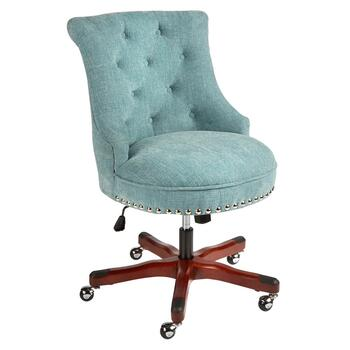 Sinclair Rolling Office Chair with Tufted Upholstery