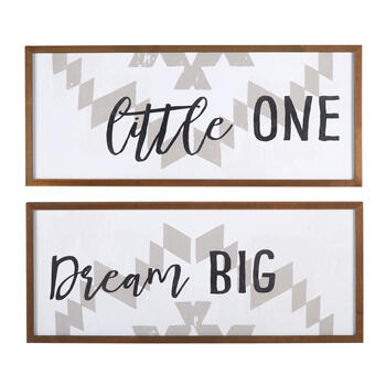 "13""x31"" ""Little One, Dream Big"" Wall Decor, Set of 2 view 1"