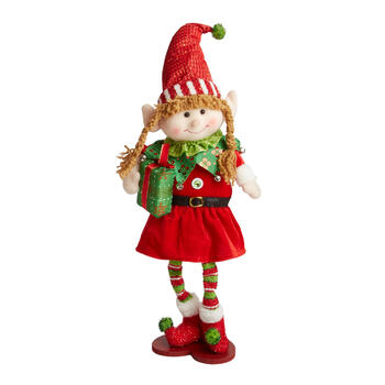 "19"" Standing Elf Girl Decor view 1"