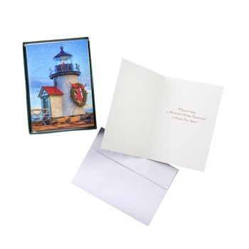 Lighthouse Holiday Card Boxes, Set of 2