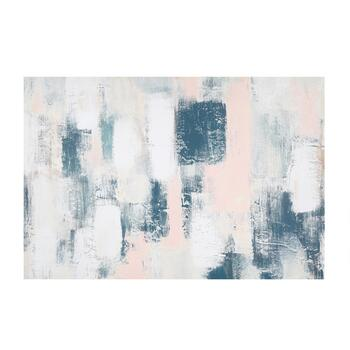 "24""x36"" Blue/White/Pink Canvas Wall Art"
