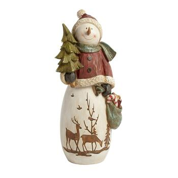 "15"" Woodland Snowman with Tree"